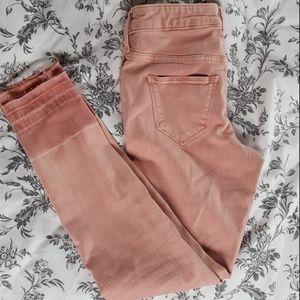 rose cut-off skinnies
